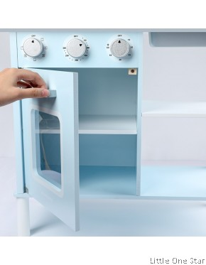Kitchen: Pink and Blue with Fridge and sounds