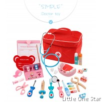 Wooden Toys: Doctor set with Cloth Zipper Bag