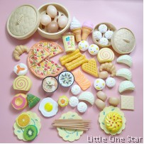 Toys: DIM SUM 60pcs (1 big and 1 small basket)