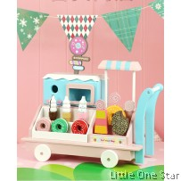 Wooden Toys: Ice Cream Push Cart Store 2020