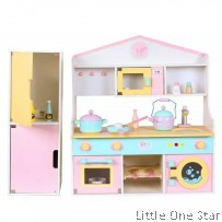 Wooden Toys: Kitchen with refrigerator or storage