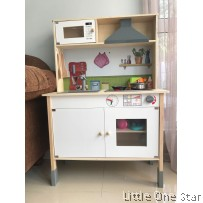 Wooden toys: Kitchen with hob and hood (Sound and light)