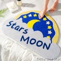 Stars and Moon Floor Mat ( 50cm x 80cm)
