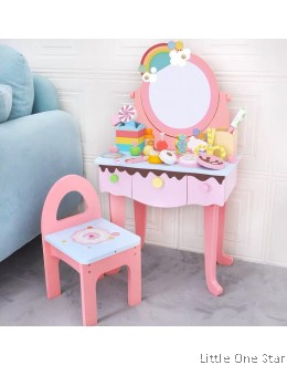 Wooden Toys: Candy Theme make up vanity set with chair