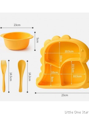 Dinosaur plate set (Plate, bowl and fork spoon)