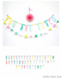 Alphabets Decorative Banner - COLOR