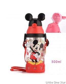 Mickey in Black ear cap water bottle- 500ml