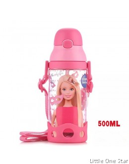 Barbie Pink Cap water bottle- 500ml