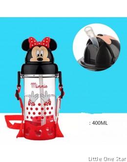 Minnie polka dot bow water bottle - 400ml