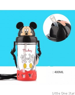 Mickey in Black ear cap water bottle- 400ml