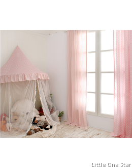 Canopy | Pink Polka with mosquito netting