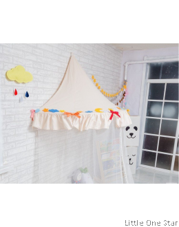 Canopy | Plain White With Bows  + Mosquito netting