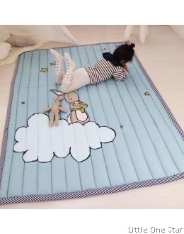 Crawling Mat I Rabbit on cloud