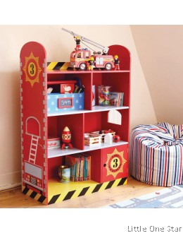 Fire Engine theme Book Shelf