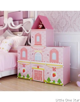 Multi-Purpose Storage Shelf - Ice cream Strawberry theme 7 shelf
