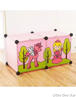 Multi purpose storage- Unicorn and Princess 2 shelf