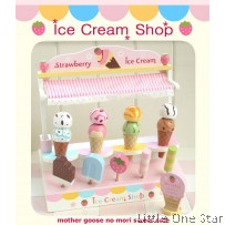 Wooden Toys: Strawberry Ice Cream Store