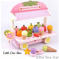 Wooden Toys: Strawberry Ice Cream Shop on wheel