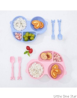 Car Shape Plate- Wheat Straw material (Comes with Fork and Spoon)