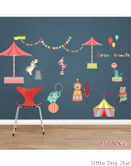 Wall Stickers: Circus Animals