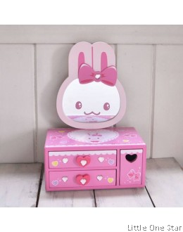 1. Wooden toys: Jewelry Box with Mirror