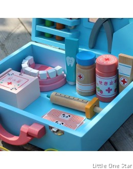 1. Wooden toys: Dental Kit with Box