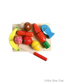 1. Wooden Toys: Vegetables chop