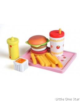 1. Wooden Toys: Burger/ Sausage Set