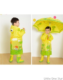 Rain Coat: Yellow Dinasour