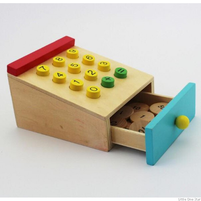 Kitchen Counters On Toys: Wooden Toys: Ice Cream Shop With Cashier Counter (Unisex