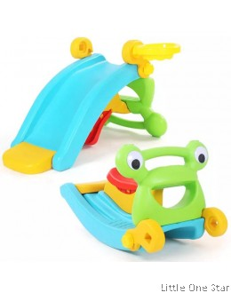 3 in 1 Slide + Rocker + Basket ball ring