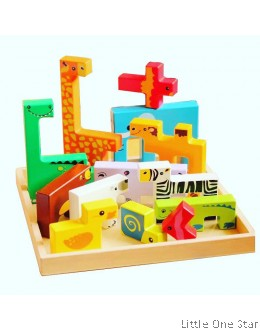 Animals Puzzles Building Blocks