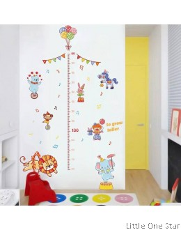 Wall Decor: Height measurement with Circus theme