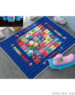 Crawling Mat / Play Mat: Peppa Ladder Game (Comes with 2 Peppa Toys + 1 Dice)