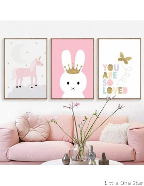 Painting I Unicorn, Bunny , you are so loved