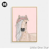 Painting I Pink Flower Horse