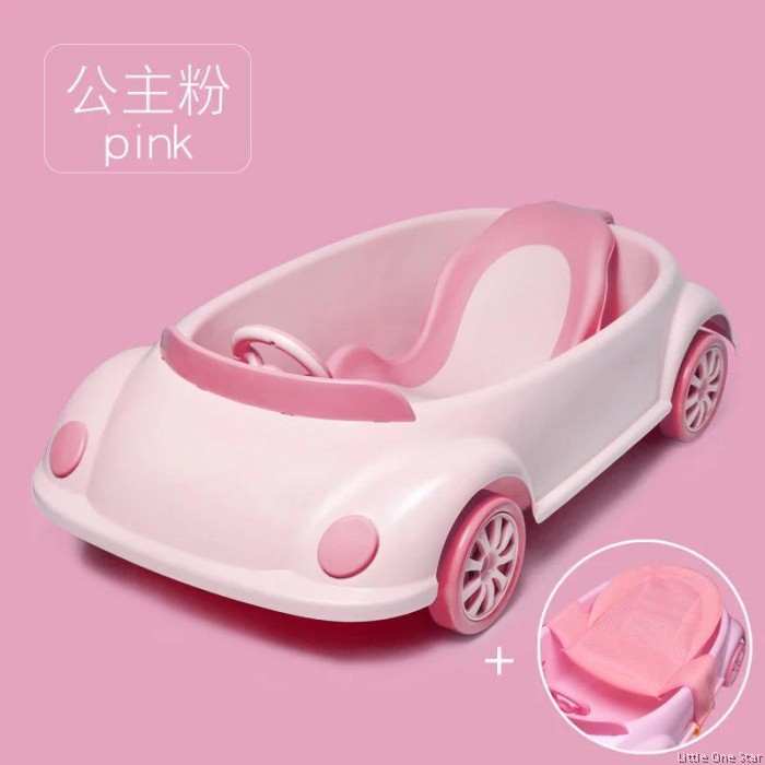 Bath Tub Car Shape With Movable Wheels And Steering