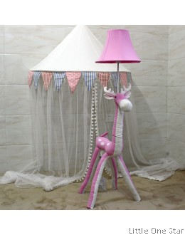 Night Light: Pink Reindeer (Floor Height)