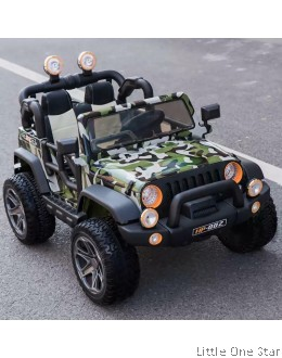 Army Design Toy Car (Big- Can fit up to 2 kids or 2-10 years old kid)