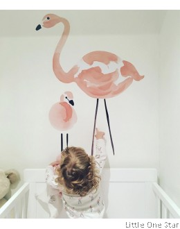 Wall Decor I Watermark Flamingo (2 flamingo a set)