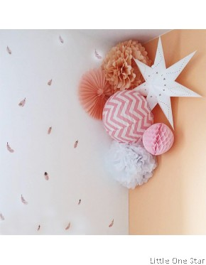 Wall Decor I Feathers watermark (16 pcs in a set)