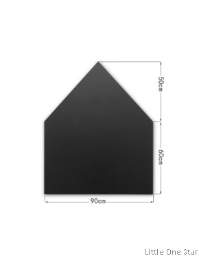 House Shape Black board magnetic wall decal (90cm x 60cm + 50cm)