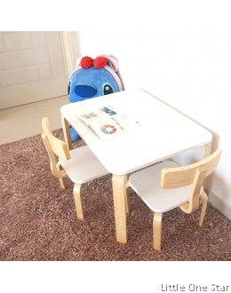Study Table with 2 chairs set: Rectangular table