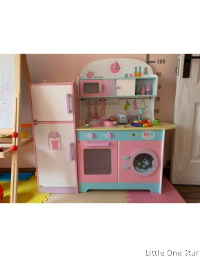Wooden Toys: Super Big Kitchen with attach Refrigerator