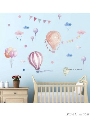 Wall Decor: Hot air balloon watermark