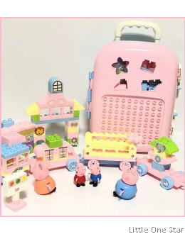 Peppa Lego Toys in luggage wheel bag