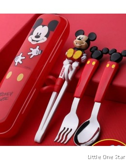 Mickey Learner Chopstick + Fork + Spoon