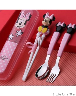 Minnie Learner Chopstick + Fork + Spoon
