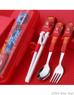 Cars Learner Chopstick + Fork + Spoon