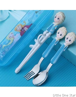 Frozen Learner Chopstick + Casing + Fork + Spoon